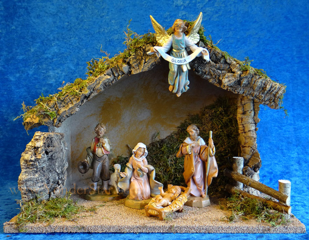 5 Quot Fontanini Nativity Scene W Wooden Stable 54422 Yonder