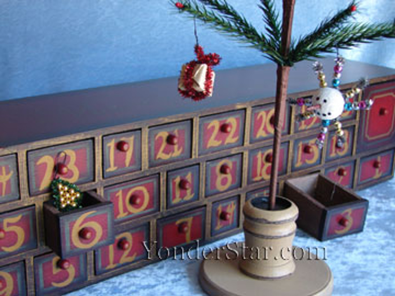 Wooden Advent Calendar Chest