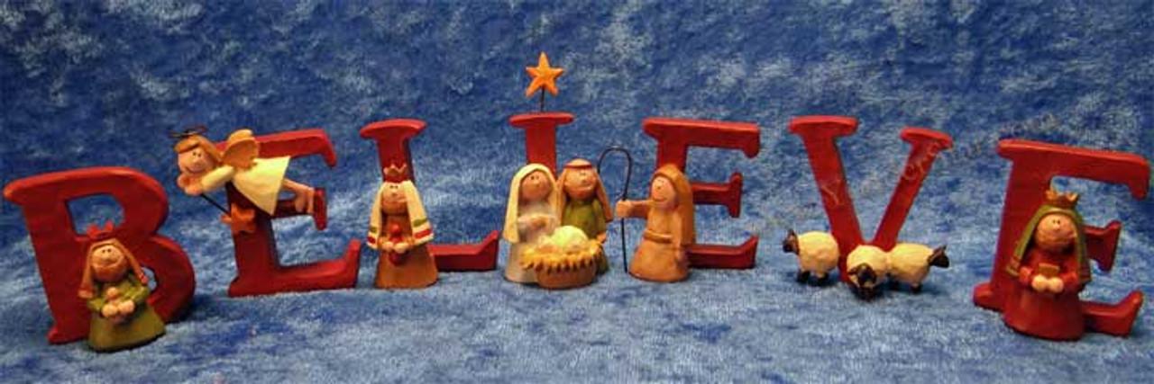 Nativity scene believe.