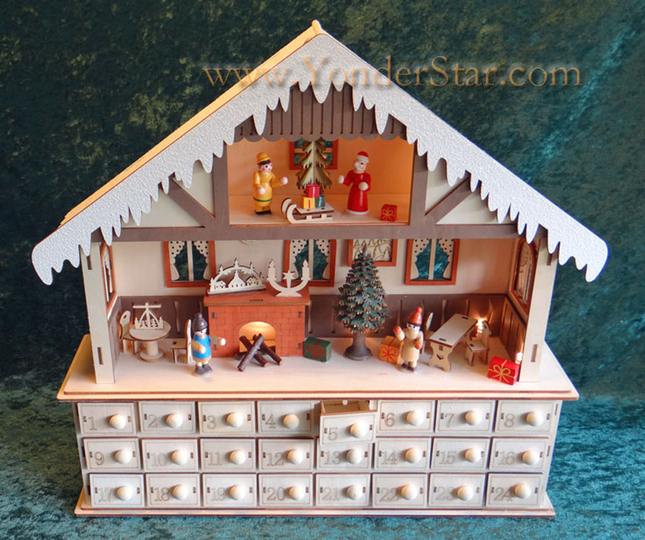Lighted Chalet Advent Calendar