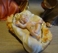 LEPI Nazarene Italian Nativity Set 16 piece w Stable