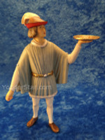 King Melchior's Page w Incense LEPI Venetian Nativity : Pre-Order