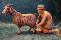 LEPI Venetian Nativity Milker w Goat - 16cm Scale