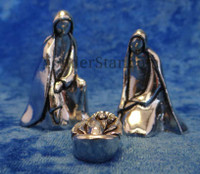 Canadian pewter nativity set