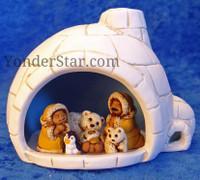 Inuit nativity in igloo