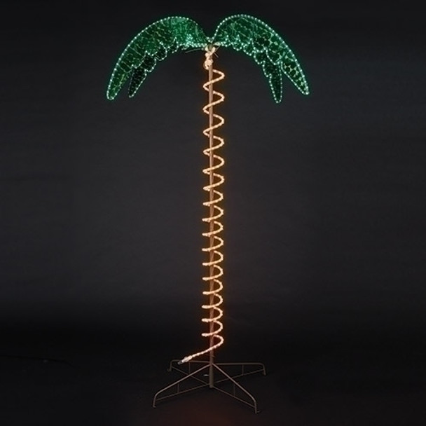 outdoor lighted palm tree 7 feet tall