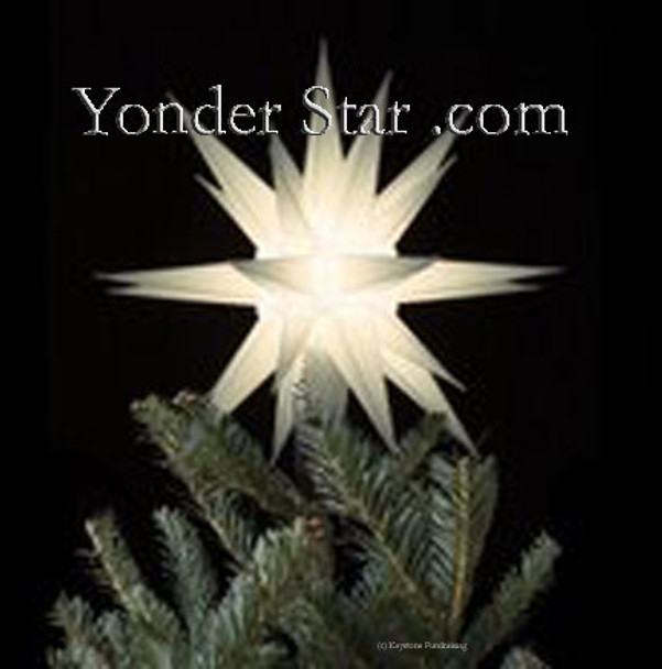 12 moravian star tree topper white lighted