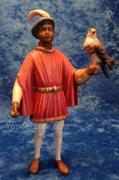 LEPI Venetian Nativity Page w Falcon for King Gaspar