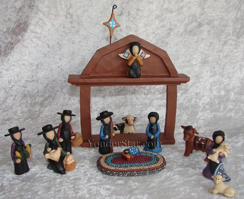 Amish Nativity Set Yonder Star Christmas Shop Llc