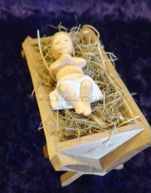 Baby Jesus In Hay Crib Huggler Nativity Switzerland