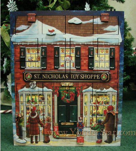 wooden musical advent calendar toy shop yonder star christmas shop llc. Black Bedroom Furniture Sets. Home Design Ideas