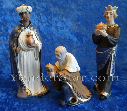 Three Wisemen Henning Wooden Nativity Norway Yonder Star