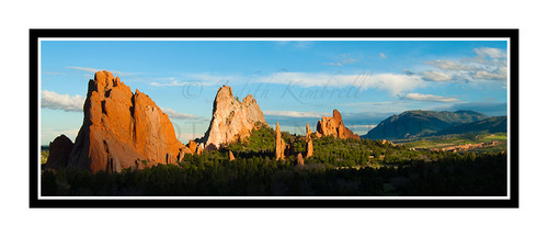 Garden of the Gods and Cheyenne Mountain at Sunset in Colorado Springs, Colorado 2170