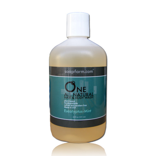 ONE Natural Hair & Body Wash, Paraben & Sulfate Free - Eucalyptus-Mint