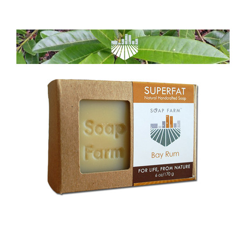 Soap Farm Superfat Natural Handcrafted Bay Rum Soap
