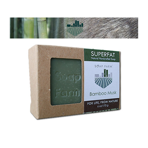 Superfat Handcrafted Soap Bamboo Musk 6 oz bar