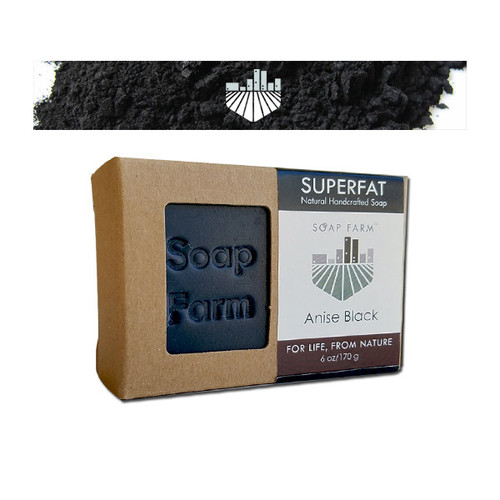 SUPERFAT Natural Handcrafted Soap Anise Black w/Charcoal