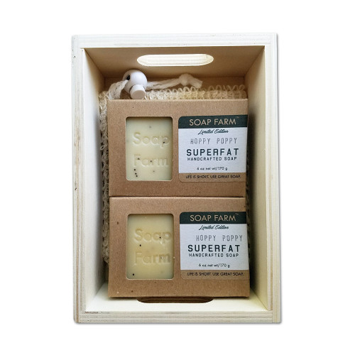 men's 2 Superfat Soap Gift Crate