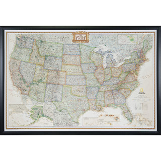 Wayfarer Executive, United States Push Pin Map