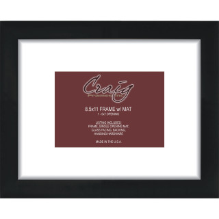 Matted Picture Frame, With 5×7 Opening and 2″ Border