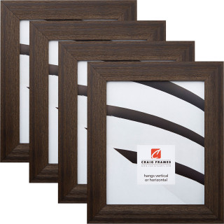 "Driftwood 15 1.5"", 4 Piece Weathered Black Picture Frame"