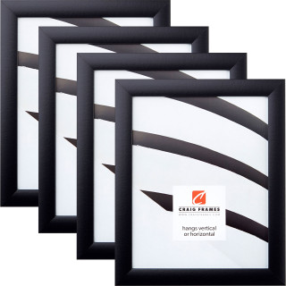"""Contemporary 1"""", 4 Piece Gallery Black Picture Frame"""