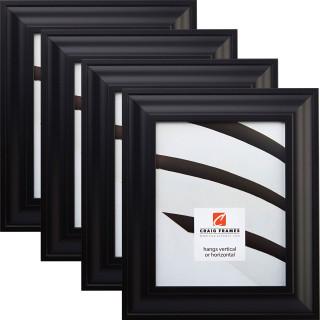 "Upscale 2"", 4 Piece Satin Black Picture Frame"