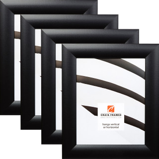 """Contemporary Wide 1.625"""", 4 Piece Gallery Black Picture Frame"""