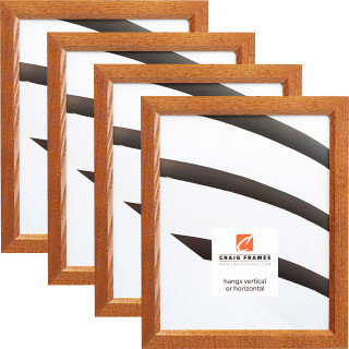 """Economy .875"""", 4 Piece Honey Brown Picture Frame"""