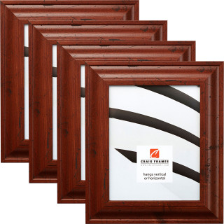 "Upscale 2"", 4 Piece Rustic Dark Walnut Picture Frame"