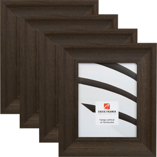 "Driftwood 25 2.5"", 4 Piece Weathered Black Picture Frame"
