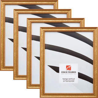 """Stratton .75"""", 4 Piece Aged Gold Picture Frame"""