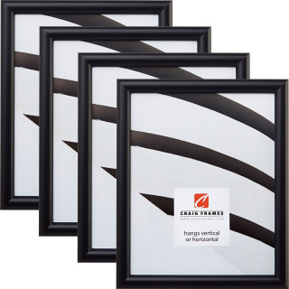 "Bullnose .75"", 4 Piece Gallery Black Picture Frame"