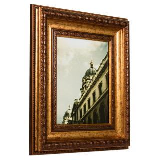 """Arqadia Gothic 3.125"""", Aged Gold Picture Frame"""