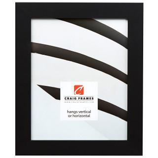 "Bauhaus 125 1.25"", Mystic Satin Black Picture Frame"