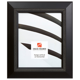"""Contemporary Rope 2"""", Satin Black Picture Frame"""