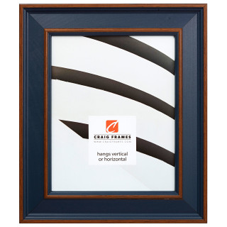 """Country Estate 2"""", Blue Hardwood Picture Frame"""