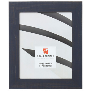 """Jasper 1.5"""", Weathered Blue Picture Frame"""