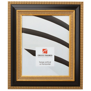 """Ruskin XL 2.25"""", Black & Gold Picture Frame"""