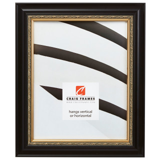 """Ruskin 1.5"""", Black & Gold Picture Frame"""