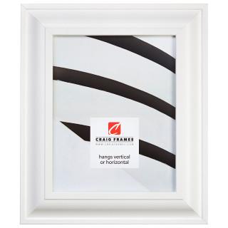 "Upscale 2"", White Satin Mica Picture Frame"
