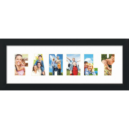 Family word collage picture frame - Craig Frames