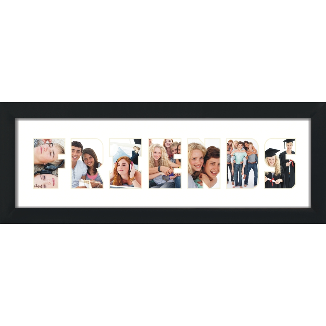 Friends, Word Collage Picture Frame