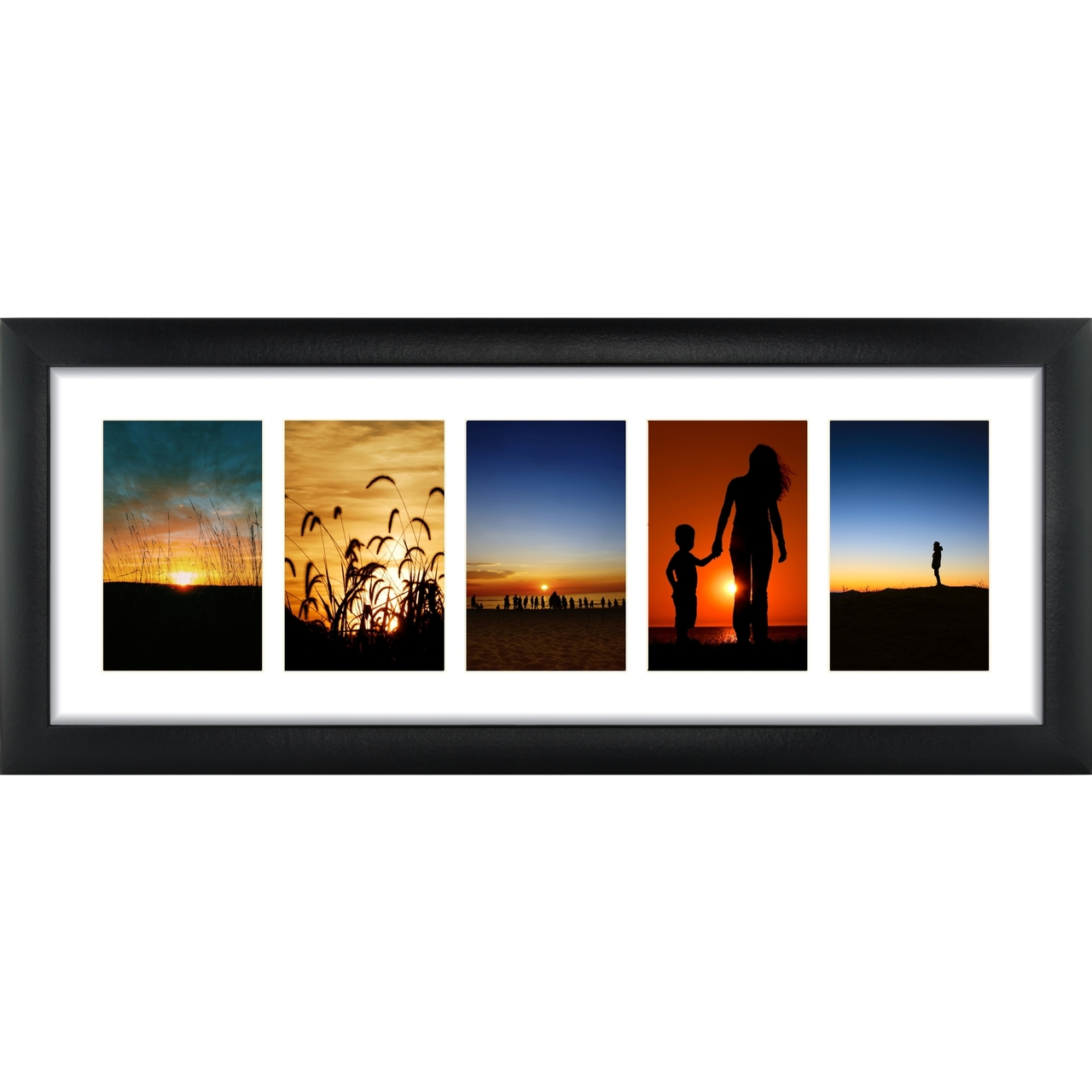 Panoramic Collage, 5 4×6 Openings with 1″ Border