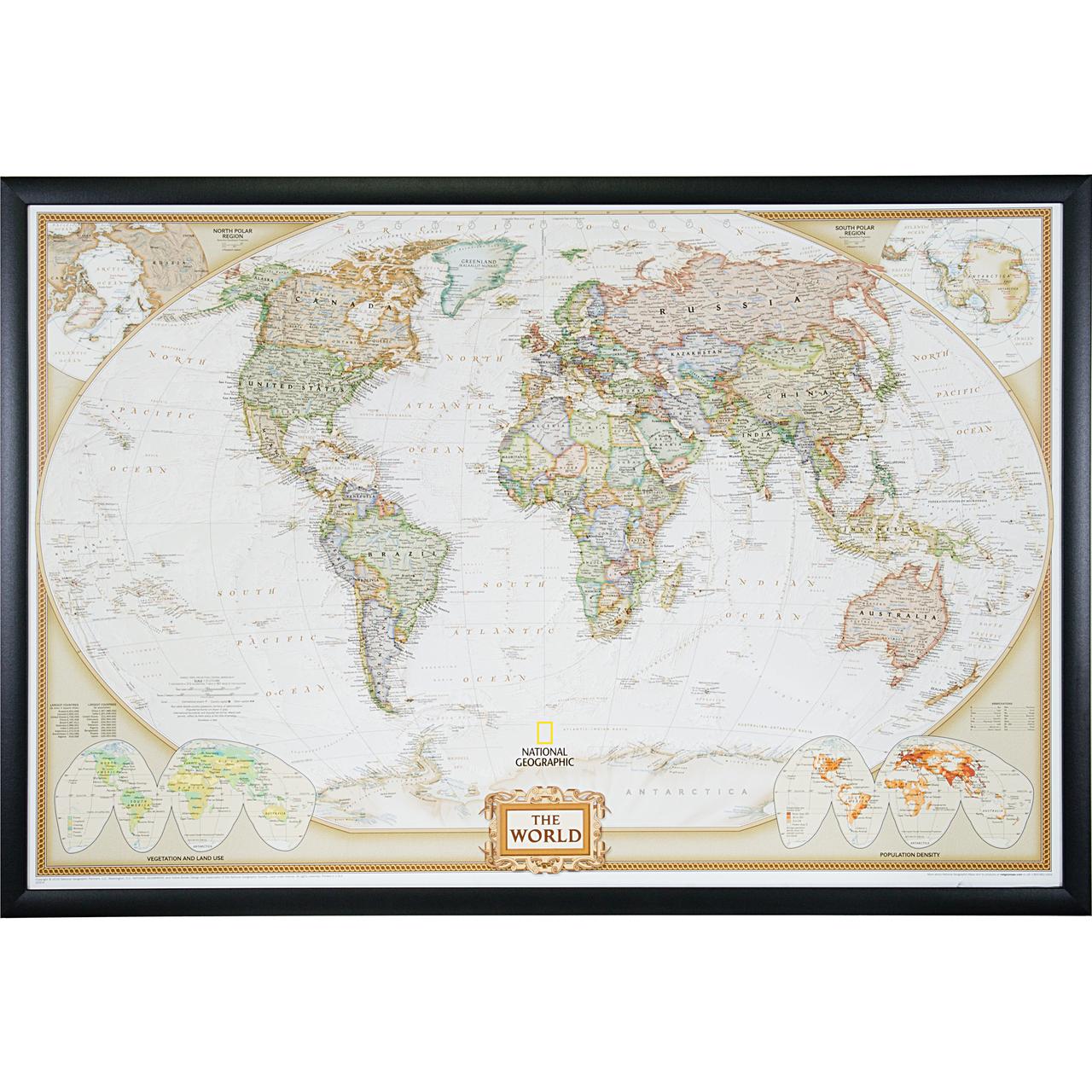Wayfarer Executive, World Push Pin Map