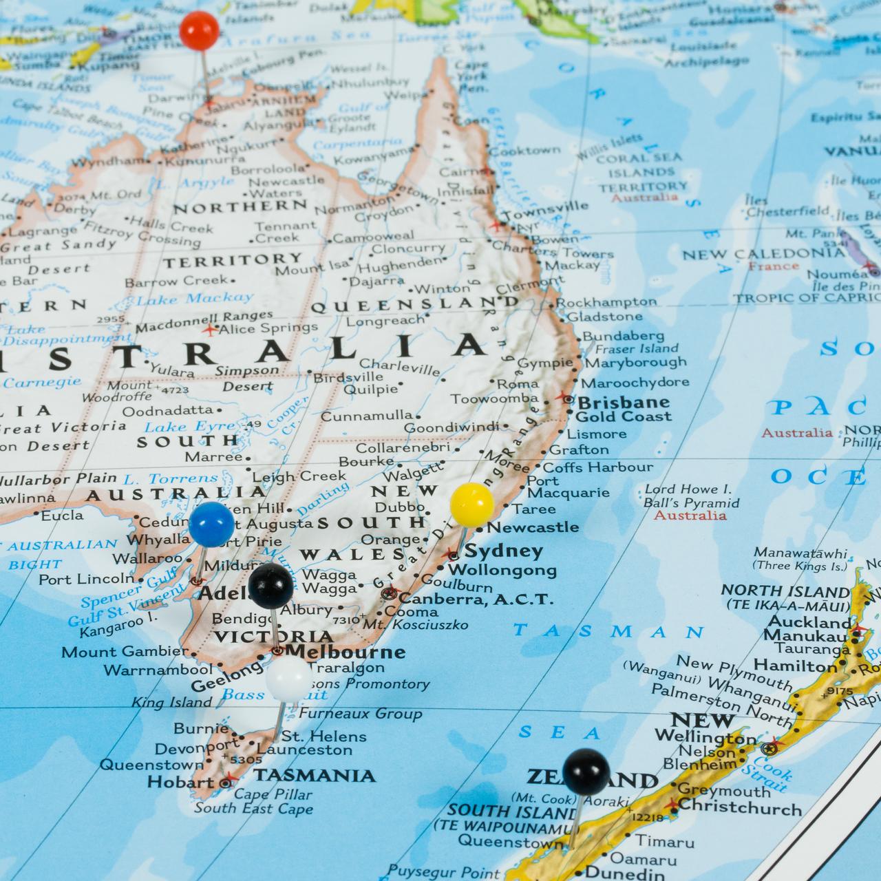 Wayfarer Classic World Push Pin Travel Map - Craig Frames  Pushpin Map