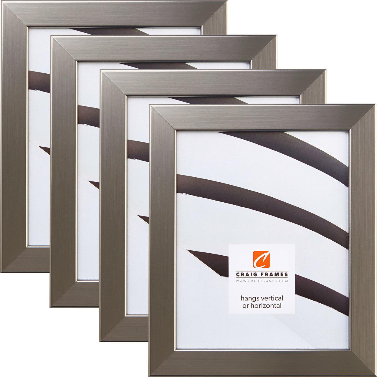 Bauhaus 125 Modern Silver Picture Frame 4 Pack - Craig Frames