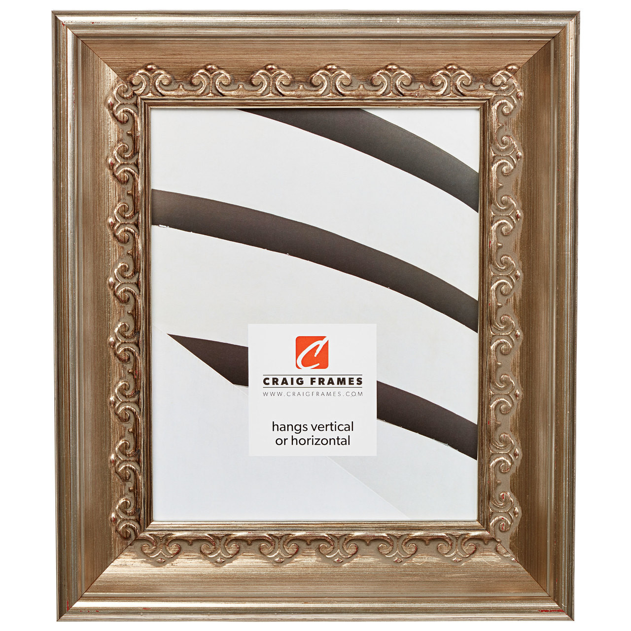 """Arqadia Gothic 2.25"""", Brushed Silver Picture Frame"""