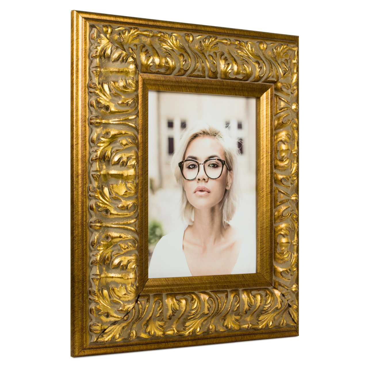 "Barroco 3.125"", Antique Gold Picture Frame"