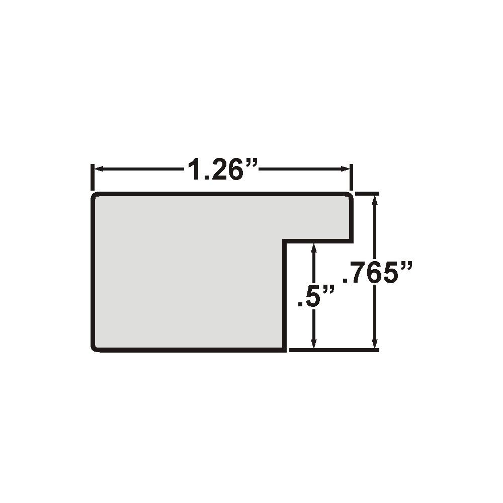 """Bauhaus 125 1.25"""", Barnwood Gray Picture Frame"""